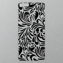 Výměnné akrylové sklo iSaprio Alu pro iPhone 6 / 6S - Abstract Flowers 08 - black