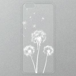 Výměnné akrylové sklo iSaprio Alu pro iPhone 6 / 6S - Three Dandelions - white