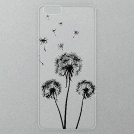 Výměnné akrylové sklo iSaprio Alu pro iPhone 6 / 6S - Three Dandelions - black