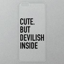 Výměnné akrylové sklo iSaprio Alu pro iPhone 6 / 6S - Devilish Inside 02 - black
