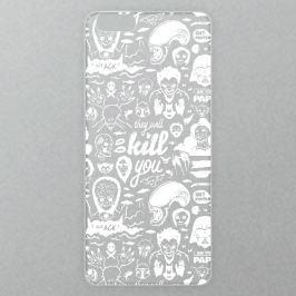 Výměnné akrylové sklo iSaprio Alu pro iPhone 6 / 6S - Comics 01 - white