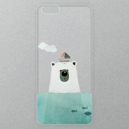 Výměnné akrylové sklo iSaprio Alu pro iPhone 6 / 6S - Bear With Boat Domů