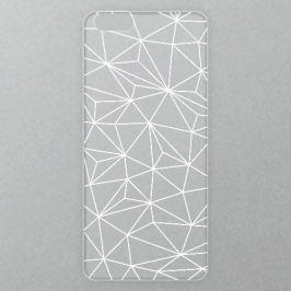 Výměnné akrylové sklo iSaprio Alu pro iPhone 6 / 6S - Abstract Triangles 03 - white
