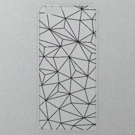 Výměnné akrylové sklo iSaprio Alu pro iPhone 6 / 6S - Abstract Triangles 03 - black