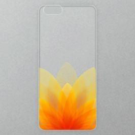 Výměnné akrylové sklo iSaprio Alu pro iPhone 6 / 6S - Abstract Orange Flower