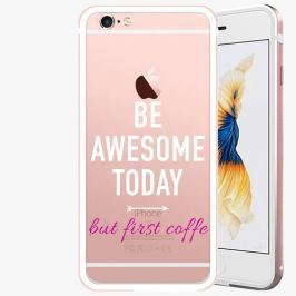 Kryt na mobil iSaprio Alu Rose Gold pro iPhone 6 / 6S - Awesome Coffe - white
