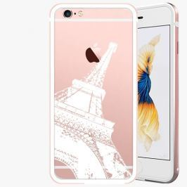 Kryt na mobil iSaprio Alu Rose Gold pro iPhone 6 / 6S - Paris - white