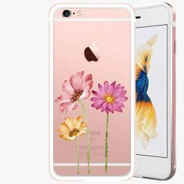 Kryt na mobil iSaprio Alu Rose Gold pro iPhone 6 / 6S - Three Flowers