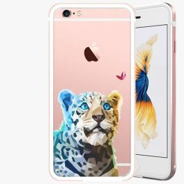 Kryt na mobil iSaprio Alu Rose Gold pro iPhone 6 / 6S - Leopard And Butterfly