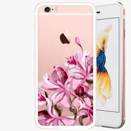 Kryt na mobil iSaprio Alu Rose Gold pro iPhone 6 / 6S - Pink Orchid
