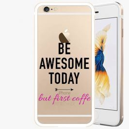 Kryt na mobil iSaprio Alu Gold pro iPhone 6 / 6S - Awesome Coffe - black