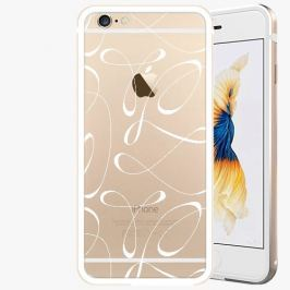 Kryt na mobil iSaprio Alu Gold pro iPhone 6 / 6S - Fancy - white