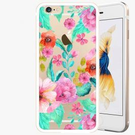 Kryt na mobil iSaprio Alu Gold pro iPhone 6 / 6S - Flower Pattern 01