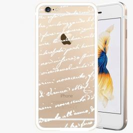 Kryt na mobil iSaprio Alu Gold pro iPhone 6 / 6S - Handwiting 01 - white