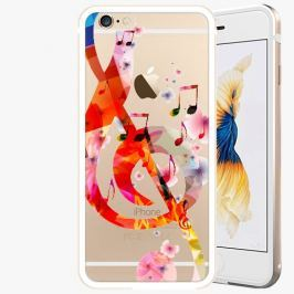 Kryt na mobil iSaprio Alu Gold pro iPhone 6 / 6S - Music 01