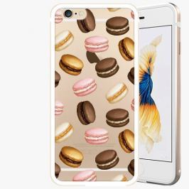 Kryt na mobil iSaprio Alu Gold pro iPhone 6 / 6S - Macaron Pattern