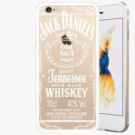 Kryt na mobil iSaprio Alu Gold pro iPhone 6 / 6S - Jack Daniels - white