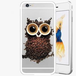 Kryt na mobil iSaprio Alu Silver pro iPhone 6 / 6S - Owl And Coffee