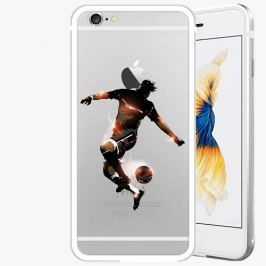 Kryt na mobil iSaprio Alu Silver pro iPhone 6 / 6S - Fotball 01
