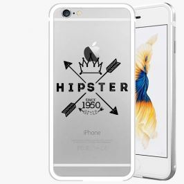 Kryt na mobil iSaprio Alu Silver pro iPhone 6 / 6S - Hipster Style 02
