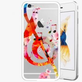 Kryt na mobil iSaprio Alu Silver pro iPhone 6 / 6S - Music 01