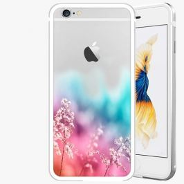 Kryt na mobil iSaprio Alu Silver pro iPhone 6 / 6S - Rainbow Grass