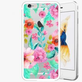 Kryt na mobil iSaprio Alu Silver pro iPhone 6 Plus / 6S Plus - Flower Pattern 01