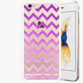 Kryt na mobil iSaprio Alu Gold pro iPhone 6 Plus / 6S Plus - Zigzag - purple