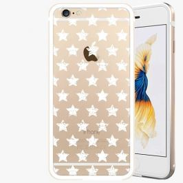 Kryt na mobil iSaprio Alu Gold pro iPhone 6 Plus / 6S Plus - Stars Pattern - white