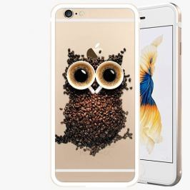 Kryt na mobil iSaprio Alu Gold pro iPhone 6 Plus / 6S Plus - Owl And Coffee