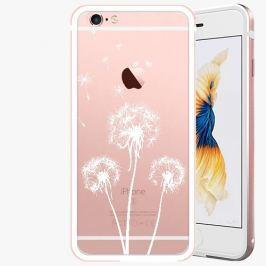 Kryt na mobil iSaprio Alu Rose Gold pro iPhone 6 Plus / 6S Plus - Three Dandelions - white