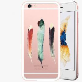 Kryt na mobil iSaprio Alu Rose Gold pro iPhone 6 Plus / 6S Plus - Three Feathers