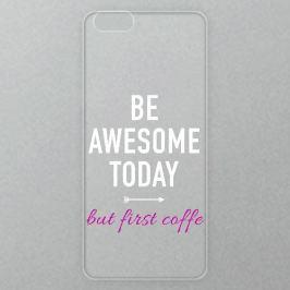 Výměnné akrylové sklo iSaprio Alu pro iPhone 6 Plus / 6S Plus - Awesome Coffe - white