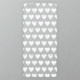 Výměnné akrylové sklo iSaprio Alu pro iPhone 6 Plus / 6S Plus - Hearths Pattern - white