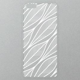 Výměnné akrylové sklo iSaprio Alu pro iPhone 6 Plus / 6S Plus - Leafs 01 - white