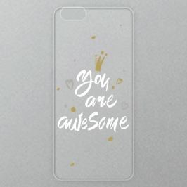 Výměnné akrylové sklo iSaprio Alu pro iPhone 6 Plus / 6S Plus - You Are Awesome - white