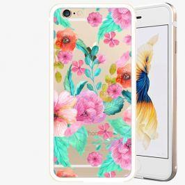 Plastový kryt iSaprio - Flower Pattern 01 - iPhone 6/6S - Gold