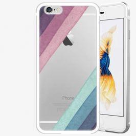 Plastový kryt iSaprio - Glitter Stripes 01 - iPhone 6 Plus/6S Plus - Silver