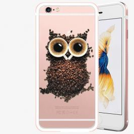 Plastový kryt iSaprio - Owl And Coffee - iPhone 6/6S - Rose Gold