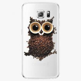 Plastový kryt iSaprio - Owl And Coffee - Samsung Galaxy S6 Edge