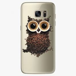 Plastový kryt iSaprio - Owl And Coffee - Samsung Galaxy S7 Edge