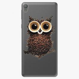 Plastový kryt iSaprio - Owl And Coffee - Sony Xperia E5