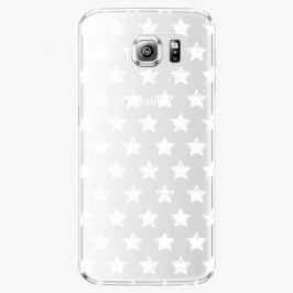 Plastový kryt iSaprio - Stars Pattern - white - Samsung Galaxy S6