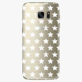 Plastový kryt iSaprio - Stars Pattern - white - Samsung Galaxy S7 Edge