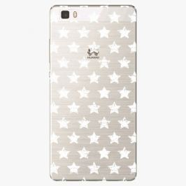 Plastový kryt iSaprio - Stars Pattern - white - Huawei Ascend P8 Lite