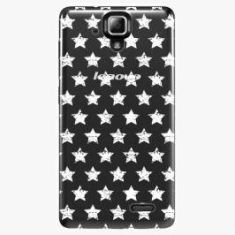 Plastový kryt iSaprio - Stars Pattern - white - Lenovo A536