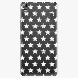 Plastový kryt iSaprio - Stars Pattern - white - Lenovo A7000