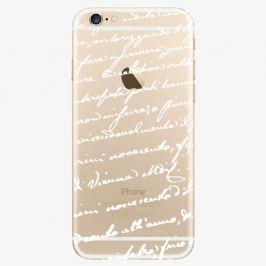 Plastový kryt iSaprio - Handwiting 01 - white - iPhone 6/6S