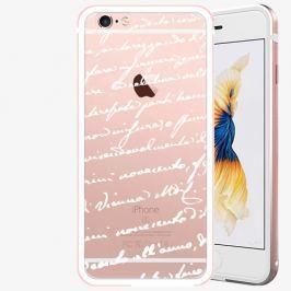 Plastový kryt iSaprio - Handwiting 01 - white - iPhone 6/6S - Rose Gold