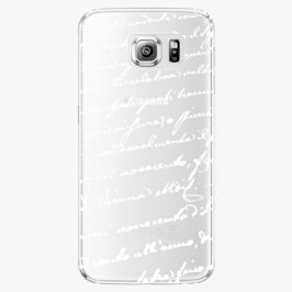 Plastový kryt iSaprio - Handwiting 01 - white - Samsung Galaxy S6